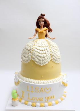 ケーキクラフトバービー人形