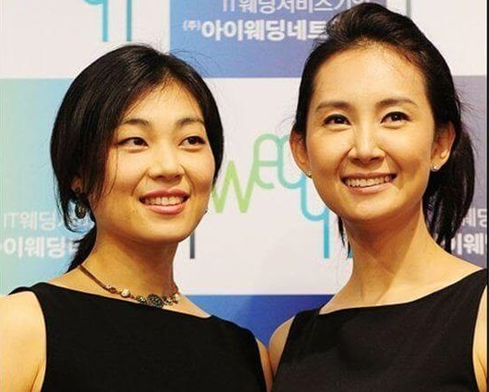 韓国女優チェシラと妹