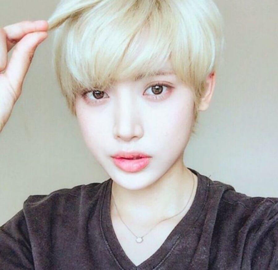 ホンソヨン韓国女優のショートカット