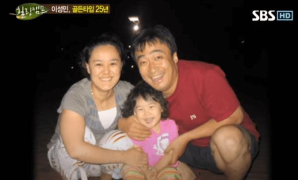 韓国俳優イソンミンの妻と娘