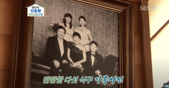 韓国俳優チョンドンファンの家族写真
