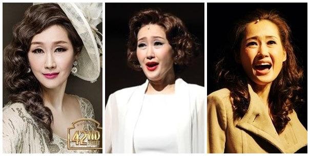 韓国女優ペヘソンのミュージカルの様子
